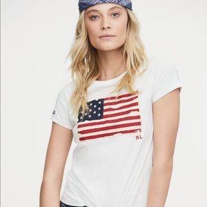 🇺🇸 Flag T-shirt - Polo/Ralph Lauren - NWT ✨